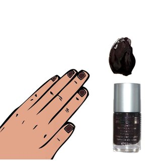 Nagellack Farblack 11 ml - Color & Shine Paris Memories braun/ schwarz 246